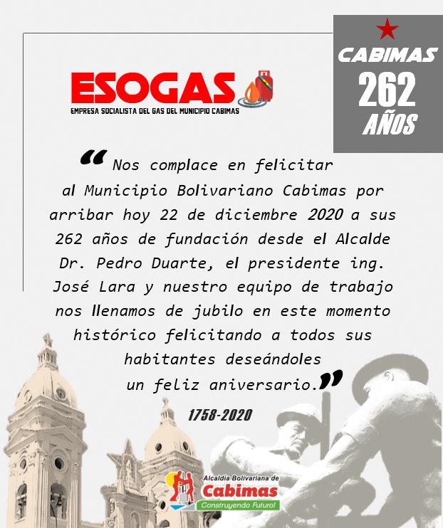 ESOGAS SERVICIO DE GAS CABIMAS